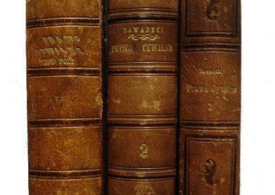 Zawadzki, Prawo cywilne 1860 r. 3t. cena 1.500 zł