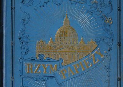Rzym papieży 1896 r.  500 zł.