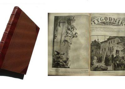 Tygodnik Ilustrowany 1891 półrocznik (brak 2 kart) 750 zł.