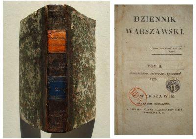 Dziennik Warszawski 1825 r. – 450 zł.