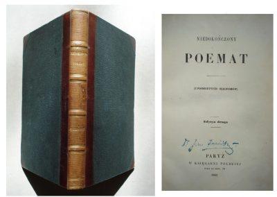 Krasiński, Niedokończony poemat 1862 r. ładny egz. 600 zł.