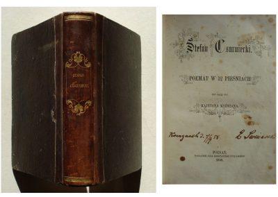 Stefan Czarniecki 1858 r. – 450 zł.