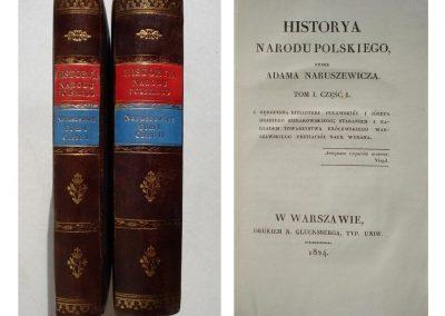 Naruszewicz Adam, Historya Polski 1824 r. tom 1 cz. 1-2 ładny egz. cena 1.300 zł.